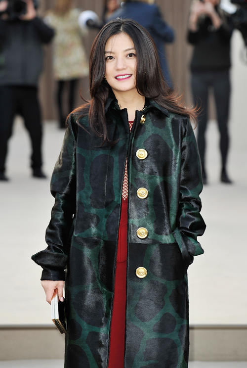 Vicky Zhao at the Burberry Prorsum Autumn Winter 2013 Womenswear Show.