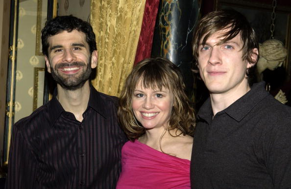 John Cariani, Sally Murphy and Patrick Heusinger at the after party of