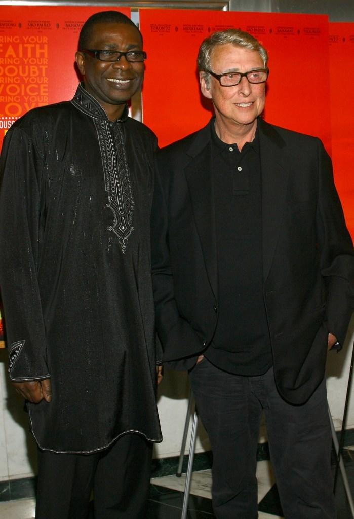 Youssou N'dour and Director Mike Nichols at the New York premiere of
