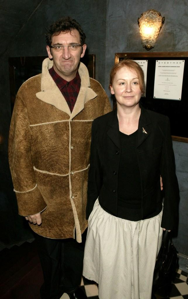 Jimmy Nail and his friend at the UK premiere of