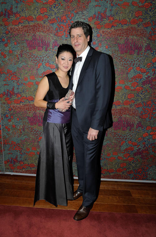 Jennifer Lim and Gary Wilmes at the after party of Broadway opening night of the