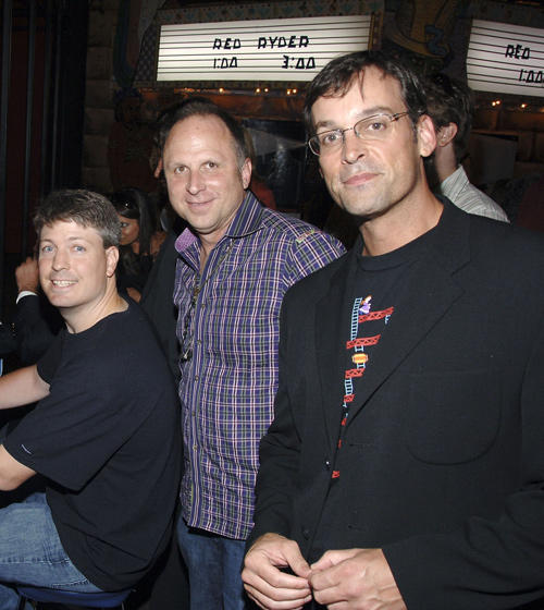 Steve Wiebe, Picturehouse president Bob Berney and producer Ed Cunningham at the New York premiere of