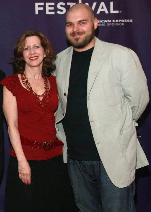 Betsy Aidem and director Philip Gelatt at the premiere of