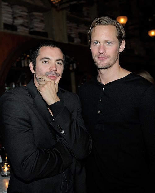 Rhys Coiro and Alexander Skarsgard at the Nylon Magazine's March Issue Celebration in California.