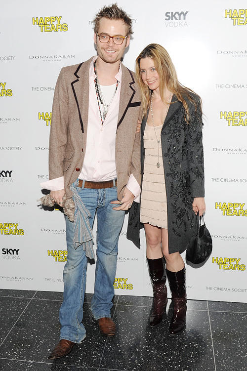 Christopher Backus and Mira Sorvino at the New York premiere of