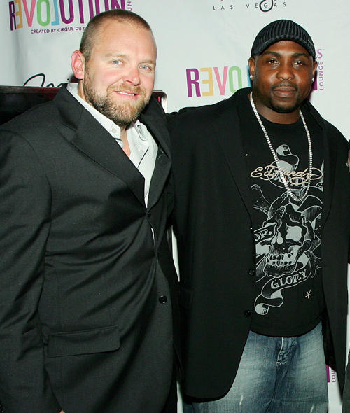 Director/producer Joe Carnahan and Christopher Holley at the DVD Launch party of