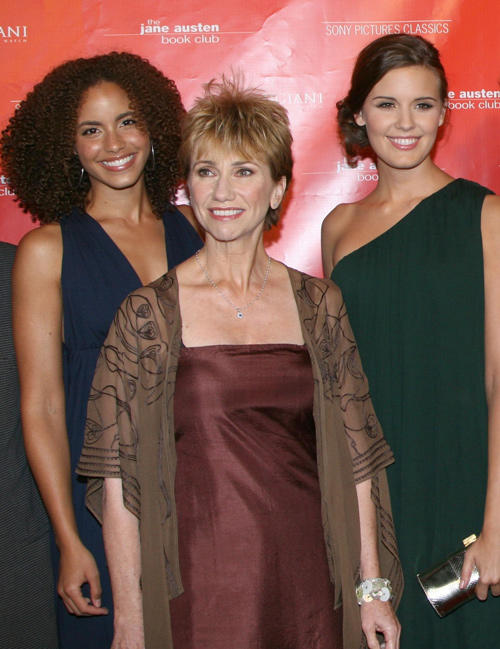 Parisa Fitz-Henley, Kathy Baker and Maggie Grace at the California premiere of