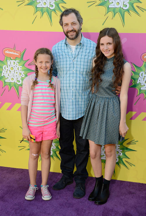 Iris Apatow, Judd Apatow and Maude Apatow at the Nickelodeon's 26th Annual Kids Choice Awards in California.