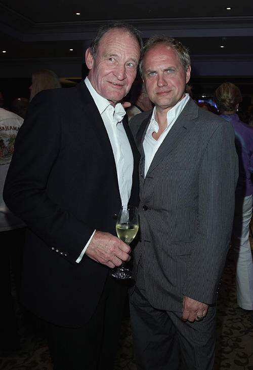 Michael Mendl and Uwe Ochsenknecht at the BMW Adlon Golf Cup 2010 party in Germany.