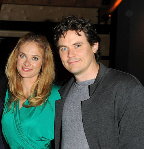 Rachel Blanchard and Gabriel Olds at the after party of