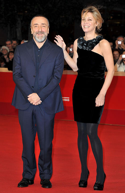 Silvio Orlando and Margherita Buy at the 5th International Rome Film Festival.