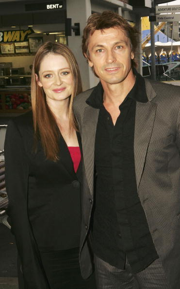 Miranda Otto and her husband Peter O'Brien at the media launch of