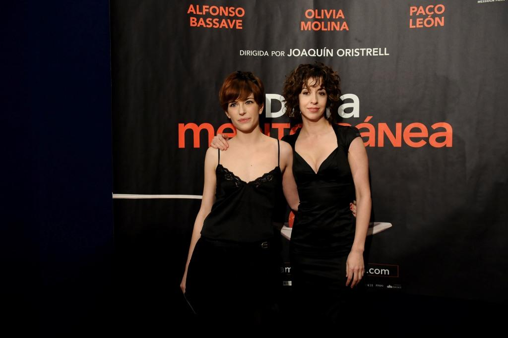 Marina Gatell and Lillian Caro at the Madrid premiere of