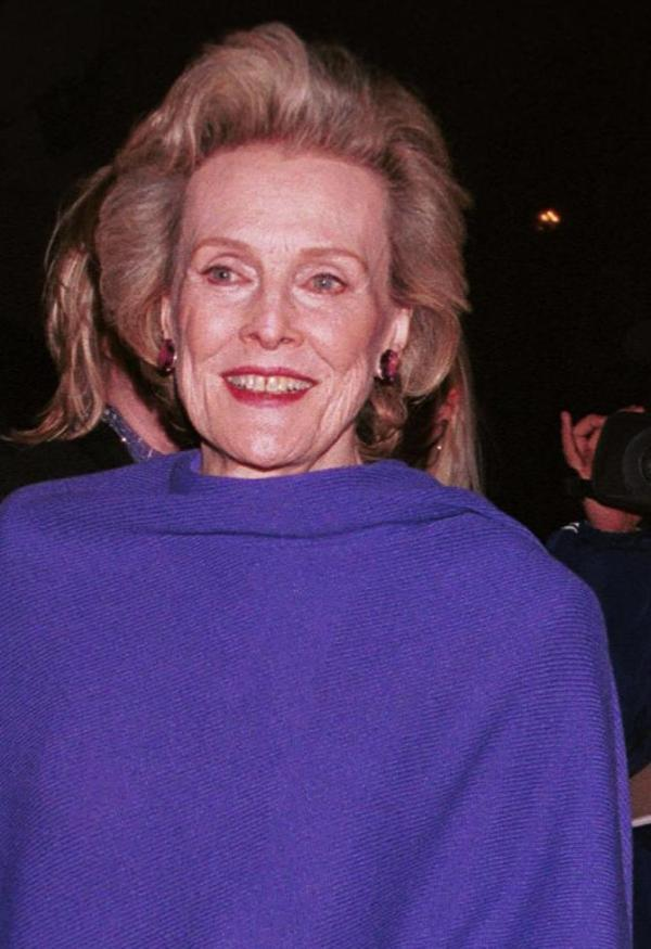 Frances Bergen at the Gregory Peck Readings Gala.