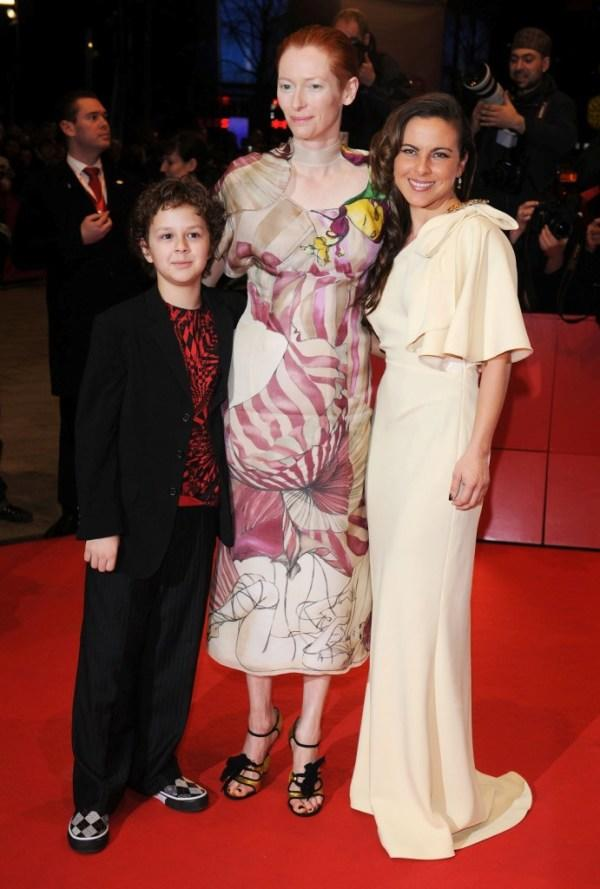 Aidan Gould, Tilda Swinton and Kate del Castillo at the 58th Berlinale Film Festival.