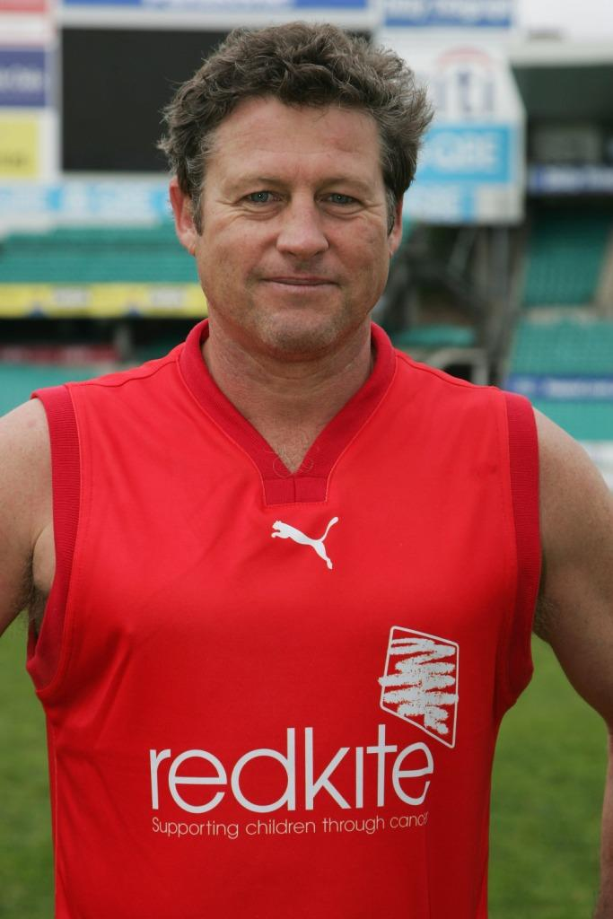 Peter Phelps at the Redkite charity AFL match.