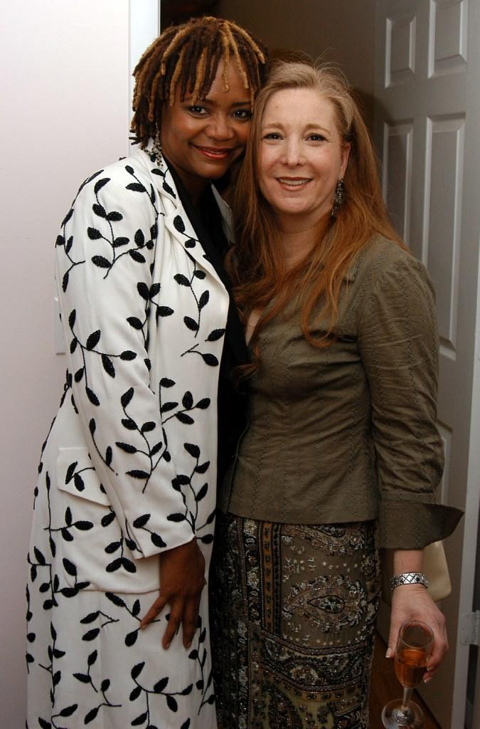 Tonya Pinkens and Randi Ranm at the Randi Rahm Debut Fall Collection.