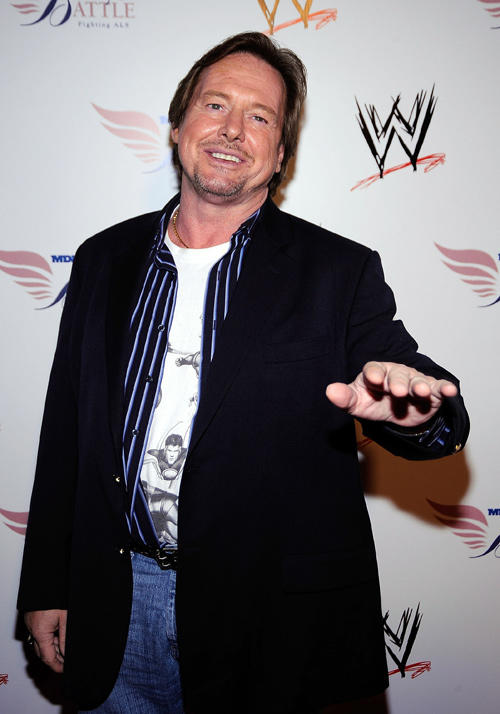 Roddy Piper at the WWE's SummerSlam Kickoff party.
