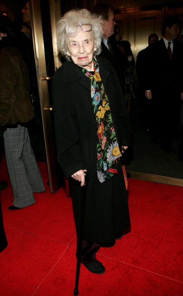 Anne Pitoniak at the opening night of