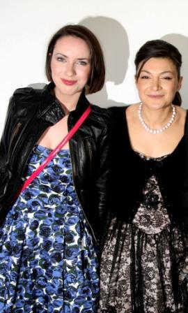 Kate O'Flynn and Alexis Zegerman at the UK premiere of