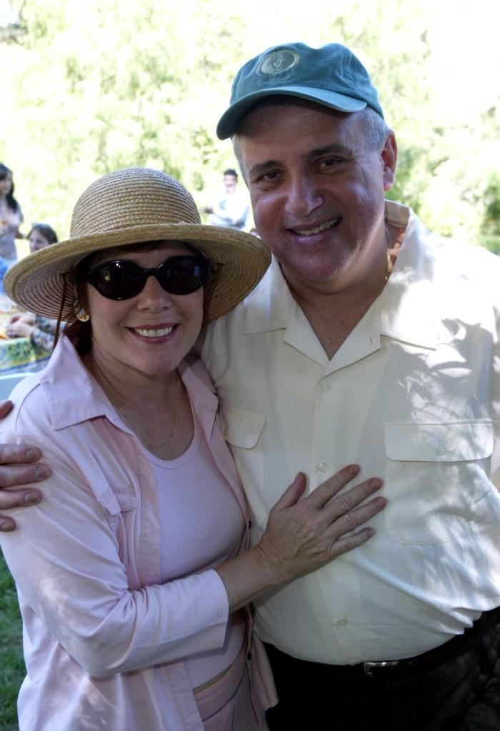 Esta Brook and husband Vic Polizos at the a fundraising event for the Los Angeles Museum.