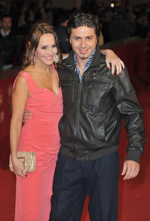 Antonella Ponziani and guest at the premiere of