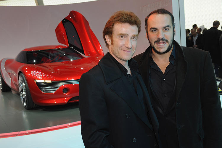 Thierry Fremont and Francois-Xavier Demaison at the Renault presentation of the Cannes Film Festival Official Car
