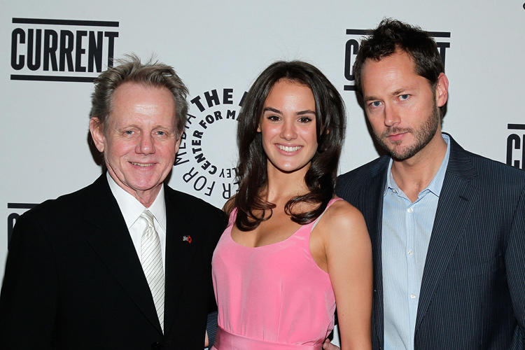 William Sanderson, Cassie Howarth and Matthew Humphreys at the Current TV Upfront in New York.