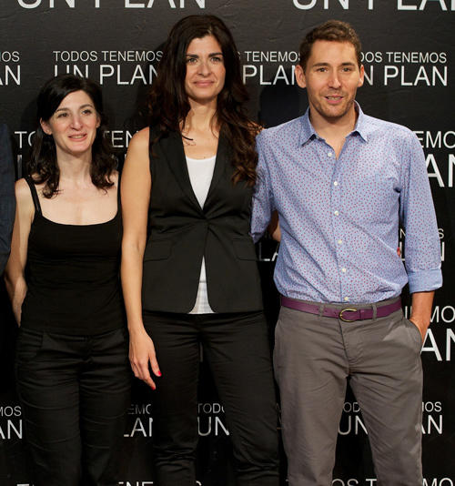 Director Ana Peterberg, Soledad Villamil and Javier Godino at the Madrid photocall of