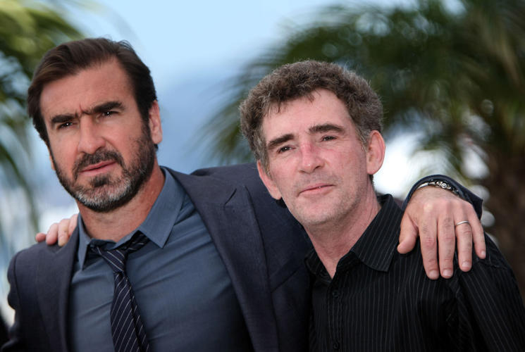 Steve Evets and Eric Cantona at the photocall during the 62nd International Cannes Film Festival.