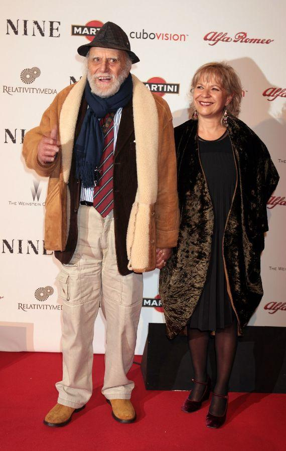 Remo Remotti and Guest at the Rome screening of