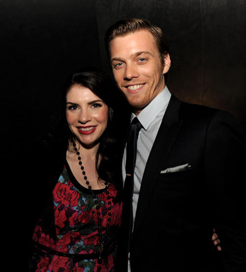 Producer Stephenie Meyer and Jake Abel at the California premiere of
