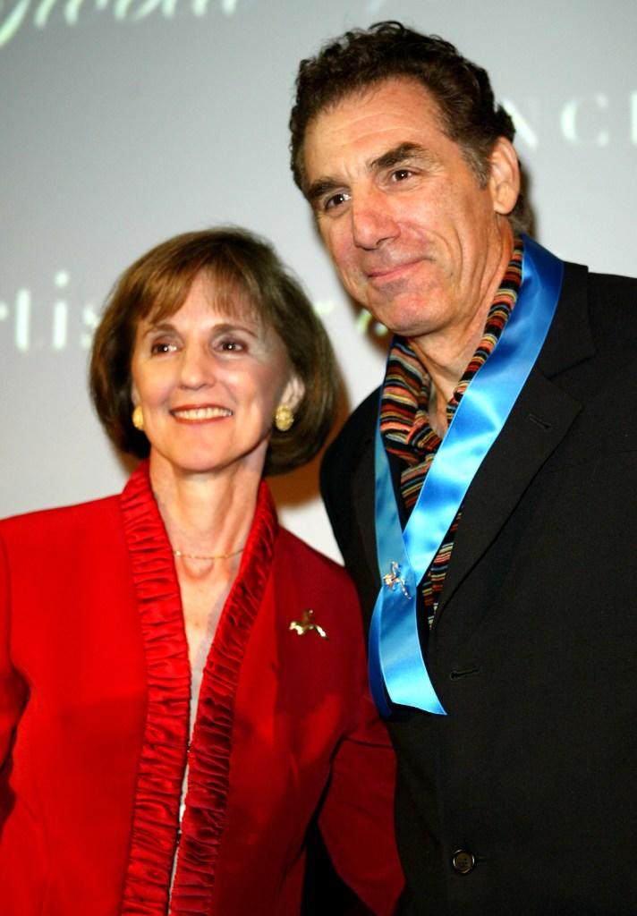 Gillian Sorensen and Michael Richards at the Global Vision for Peace launch of Artists for the United Nations.