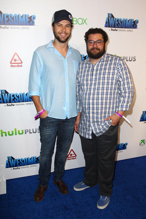 Taran Killam and Bobby Moynihan at the after party of