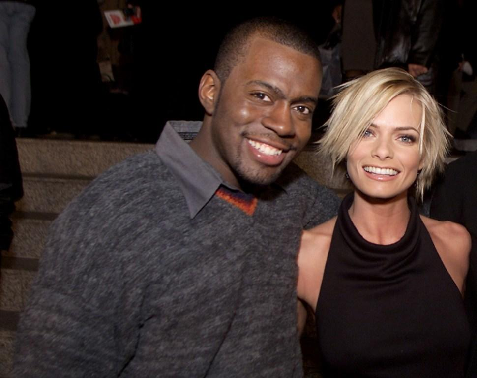 Deon Richmond and Jaime Pressly at the after party of the premiere of