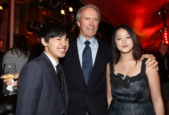 Bee Vang, Director Clint Eastwood and Ahney Her at the after party of the world premiere of