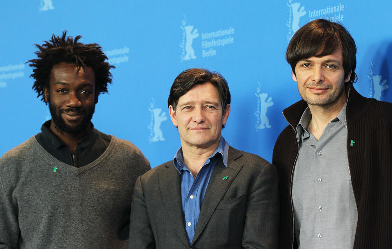 Jean-Christophe Folly, Pierre Bokma and director Ulrich Koehler at the photocall of