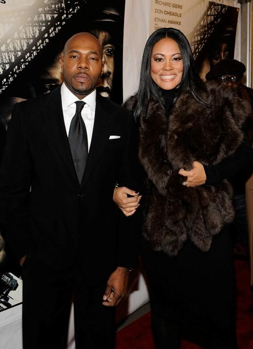 Antoine Fuqua and Lela Rochon at the premiere of
