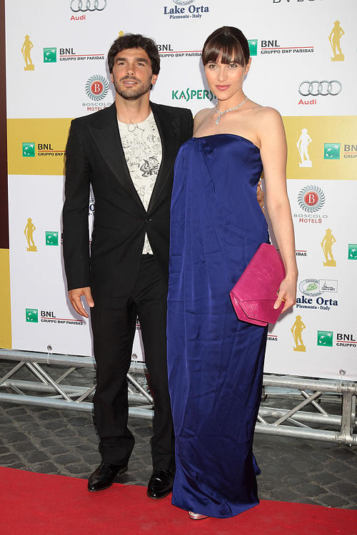 Paolo Sopranzetti and Anna Foglietta at the 2011 Premi David di Donatello Italian Academy Awards in Rome.