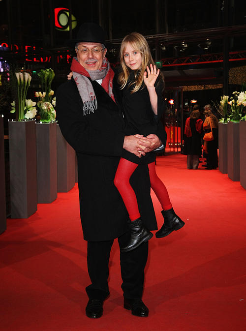 Festival Director Dieter Kosslick and Melusine Mayance at the premiere of