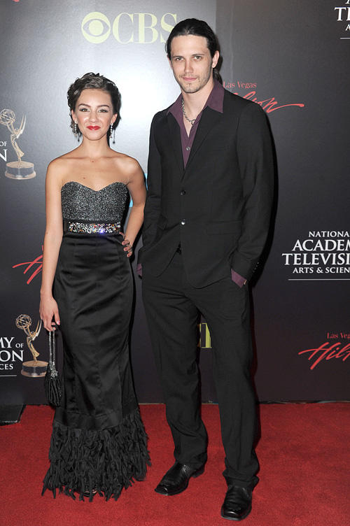 Lexi Ainsworth and Nathan Parsons at the 37th Annual Daytime Entertainment Emmy Awards in Las Vegas.