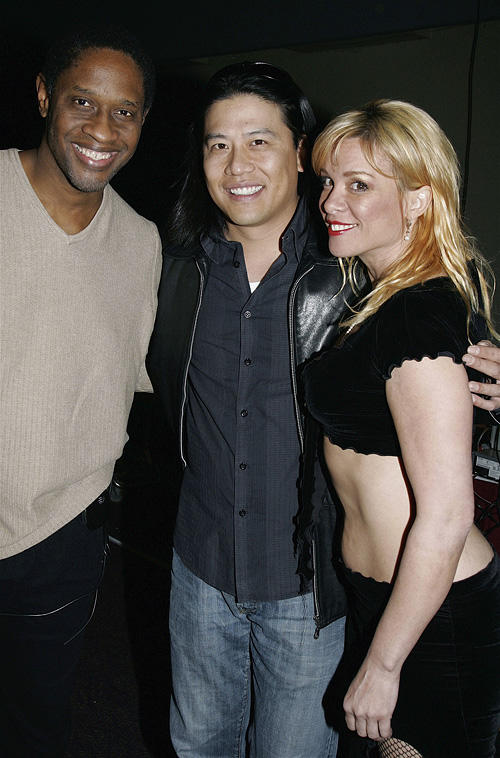 Tim Russ, Garrett Wang and Chase Masterson at the Grand Slam XIV: The Sci-Fi Summit in Pasadena.