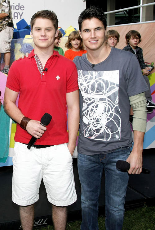 Matt Shively and Robbie Amell at the Nickelodeon Celebrates Annual Worldwide Day of Play in New York.