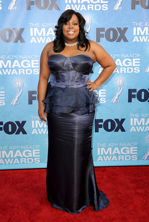 Amber Riley at the 42nd NAACP Image Awards in California.