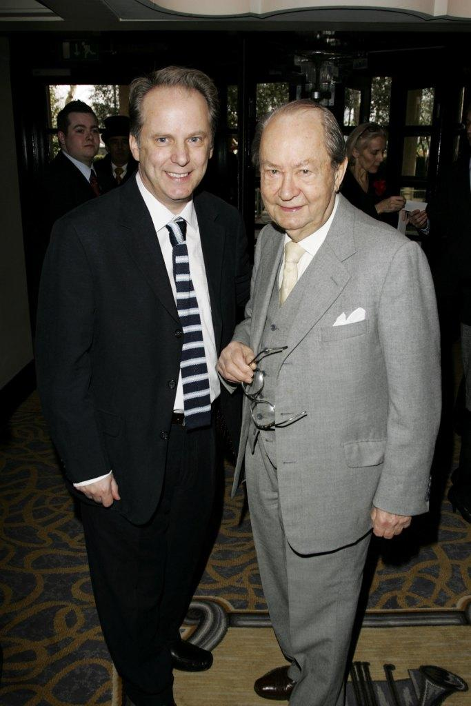 Director Nick Park and Peter Sallis at the South Bank Show Awards.