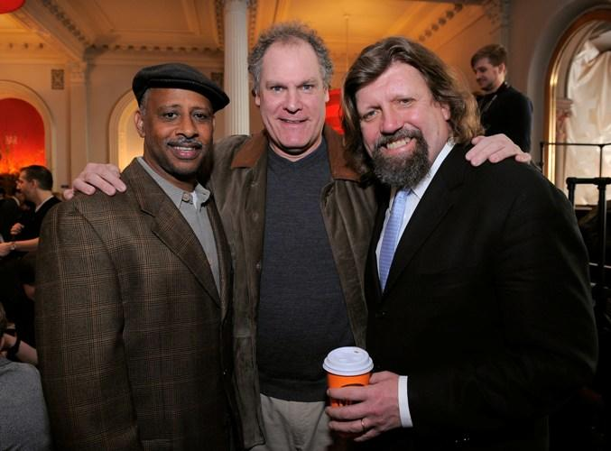 Ruben Santiago-Hudson, Jay O. Sanders and Oskar Eustis at the Public Theater Capital Campaign building renovations kick off.