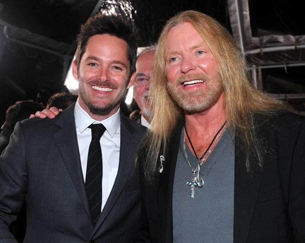 Scott Cooper and Greg Allman  at the premiere of