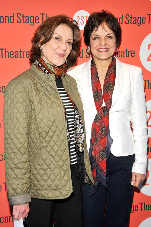 Kelly Bishop and Priscilla Lopez at the Off-Broadway opening night of