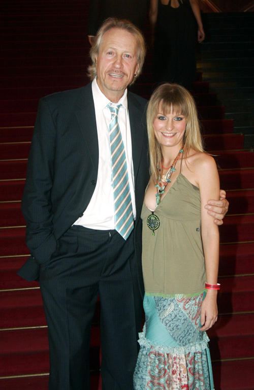 Reiner Schone and Anja Drendel at the Reminder's Day AIDS Gala in Germany.