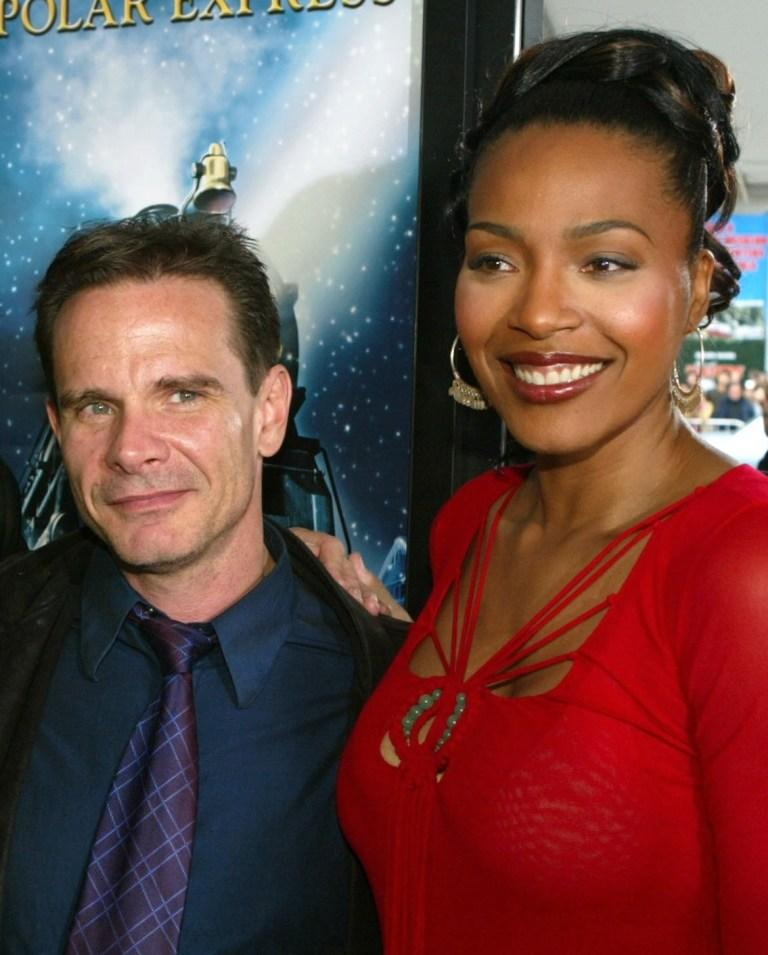 Peter Scolari and Nona Gaye at the premiere of
